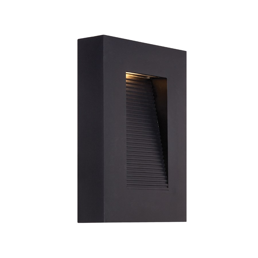 Modern forms urban 10 indooroutdoor dimmable led wall light led black finish aloadofball Choice Image