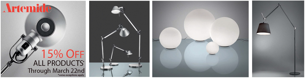 Artemide Spring Promotion. 15% off from March 3rd to 22nd.