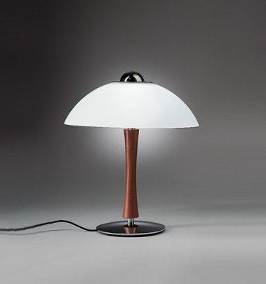 Artemide Table Lamps: Arcadia Table. Wood Or,Lighting
