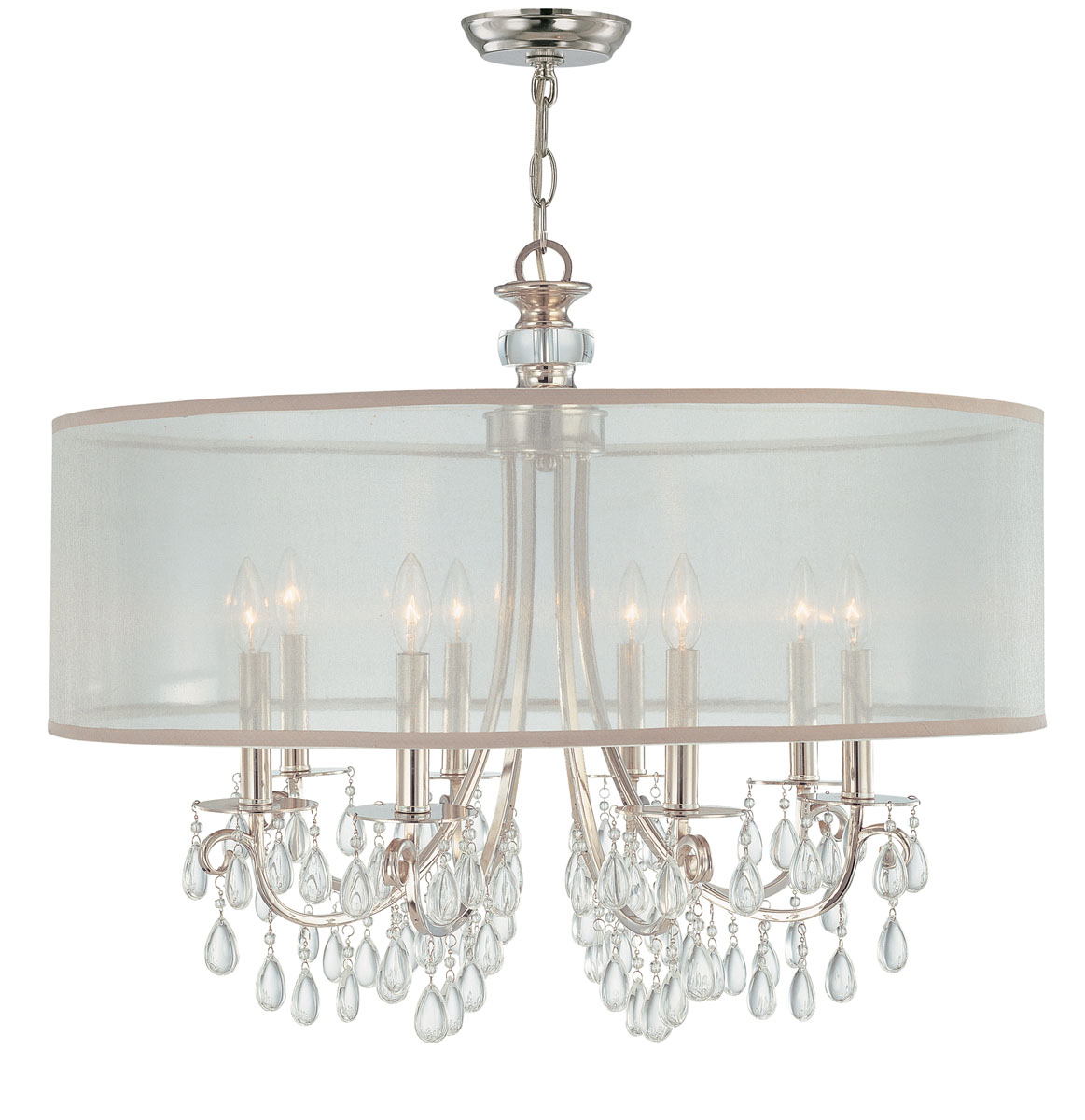 hampton 8 light chandelier. Black Bedroom Furniture Sets. Home Design Ideas