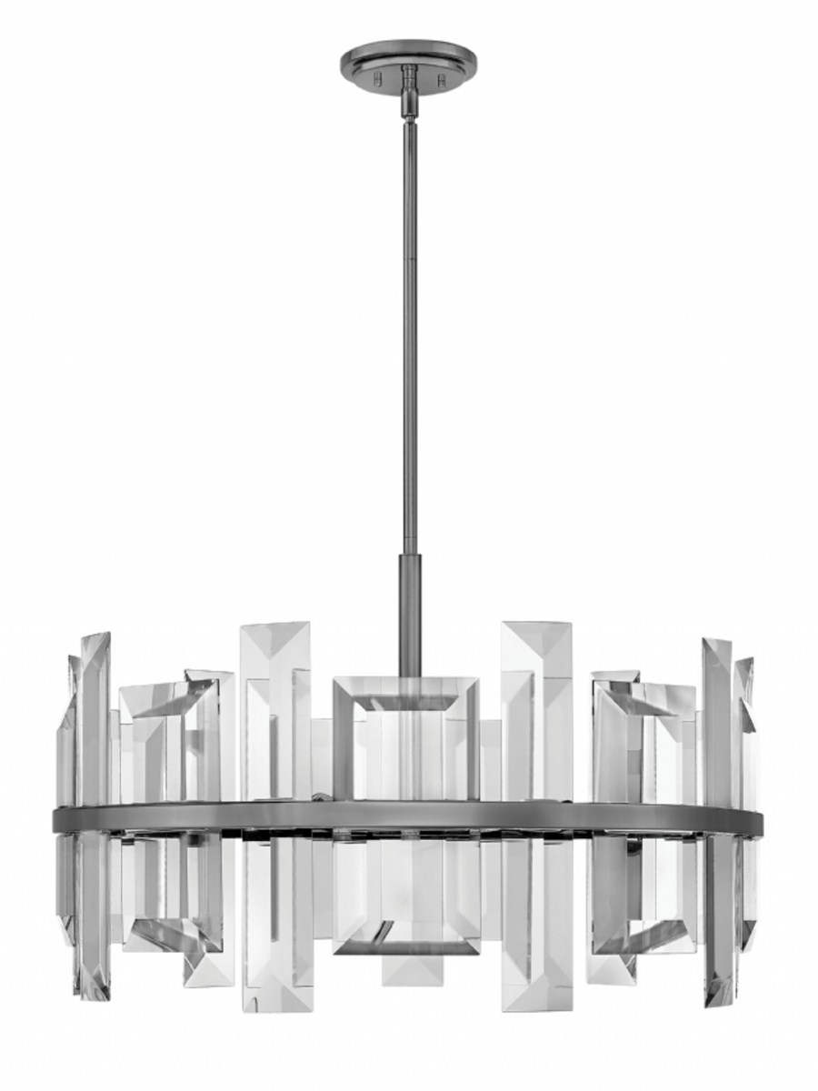 Hinkley odette single tier pendant chandelier chandelier neenas gunmetal finish incandescent candelabra base bulb odette single tier pendant chandelier arubaitofo Image collections