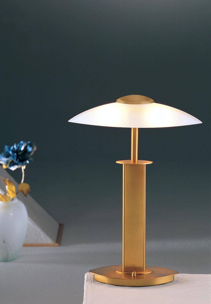 Antique Brass Finish Satin White Glass. Chevron_left. Halogen Table Lamp