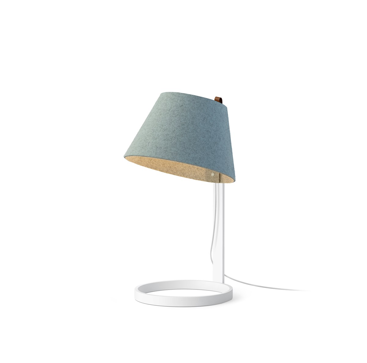 White Finish Arctic Blue Shade. Chevron_left. Chevron_right. Lana Small  Table Lamp