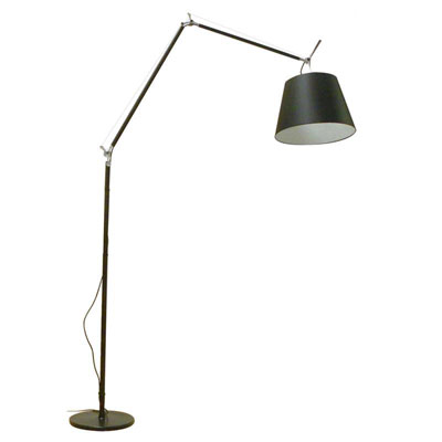 Artemide Floor Lamp, Contemporary Floor Lamp, Tolomeo Mega Black Floor