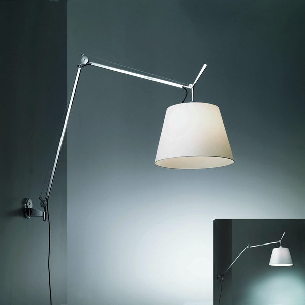 artemide tolomeo mega wall wall mount neenas lighting