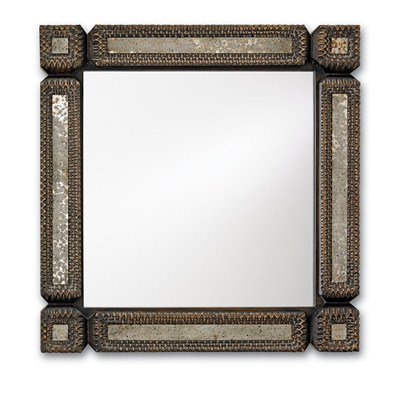 Tramp Art Mirror, Square