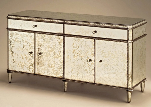 Antiqued Mirror Credenza. Furniture from Currey - Currey Antiqued Mirror Credenza, Furniture Neenas Lighting