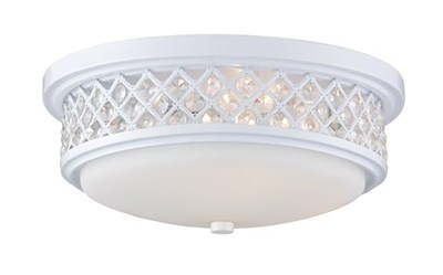 Flush Mount 3-Light In White