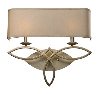2- Light Wall Sconce In Aged S