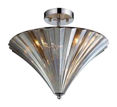 3- Light Flushmount In Polishe