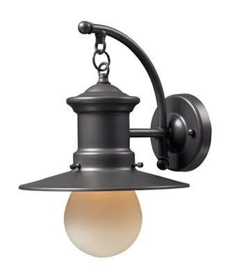 1- Light Outdoor Sconce In Gra