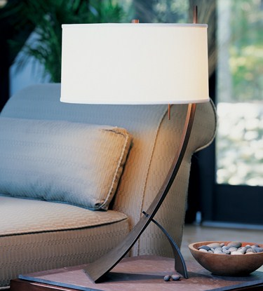 Hubbardton Forge Table Lamp Stasis With Shade Table Lamp