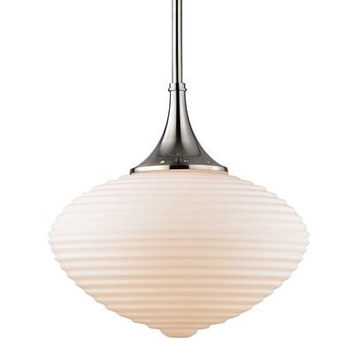 Knox 1 Light Pendant W/ Matte Opa