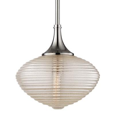 Knox 1 Light Pendant W/ Brass Mes
