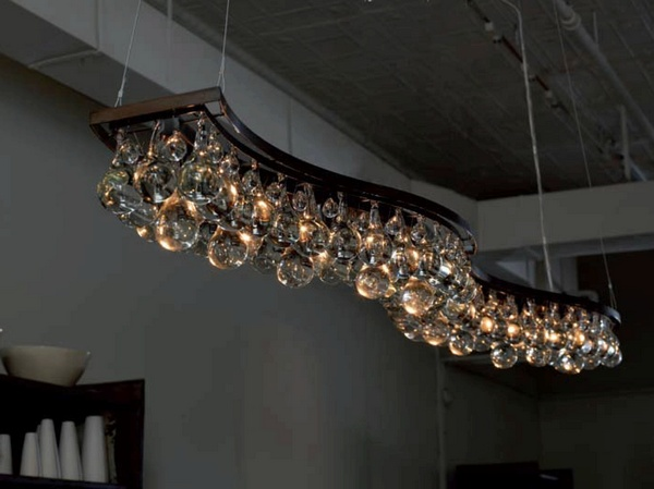 Arctic Pear Db Wave Chandelier