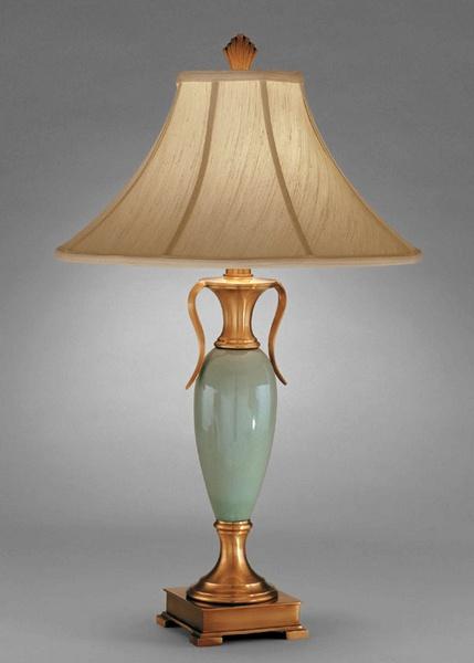 Remington lamp table lamp celadon porcelain and