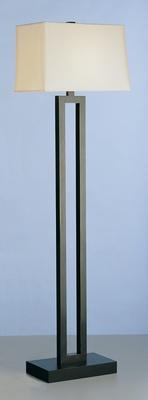 Ant Bronze Fl Lamp W/