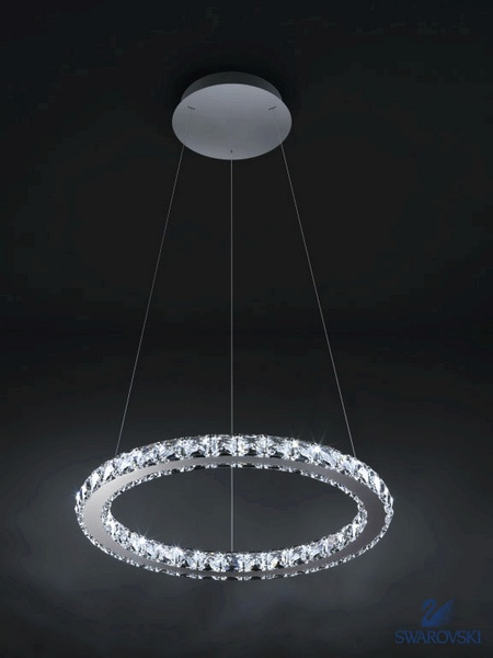 swarovski chandelier circle luminaire. Black Bedroom Furniture Sets. Home Design Ideas