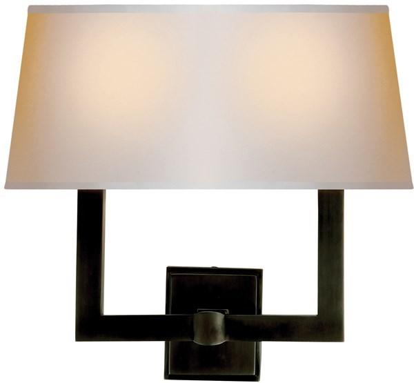 Visual Comfort Two-light Square Tube, Wall Mount Neenas Lighting