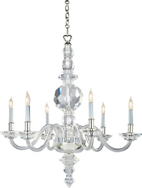 visual comfort large george ii faceted  chandelier