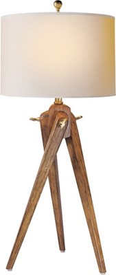 Visual Comfort Table Lamp, Contemporary Table Lamp, Tripod Table Lamp