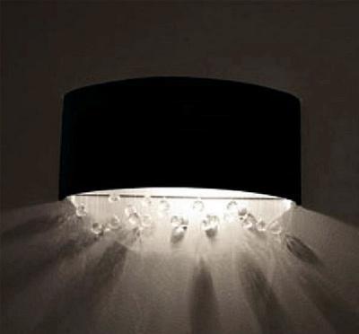 Velvet wall lamp