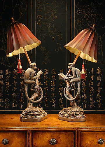 Wildwood lamps monkey lamp table lamp neenas lighting monkey lamp mozeypictures
