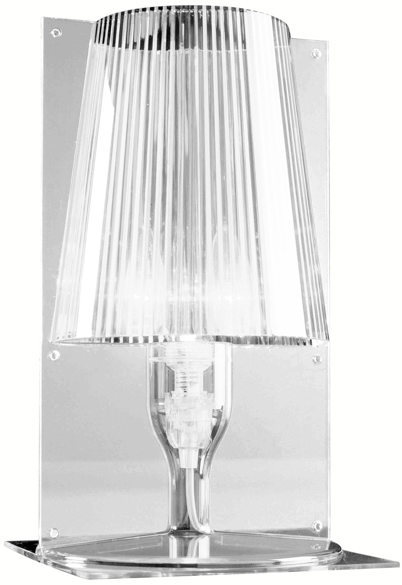 kartell take table lamp  neenas lighting - transparent crystal color