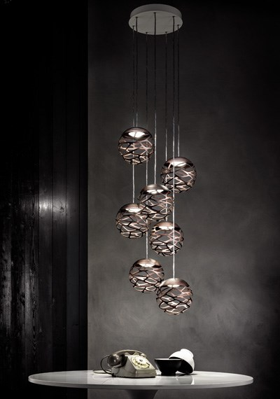 Studio italia design kelly so suspension pendant fixture for Suspension luminaire 3 lampes