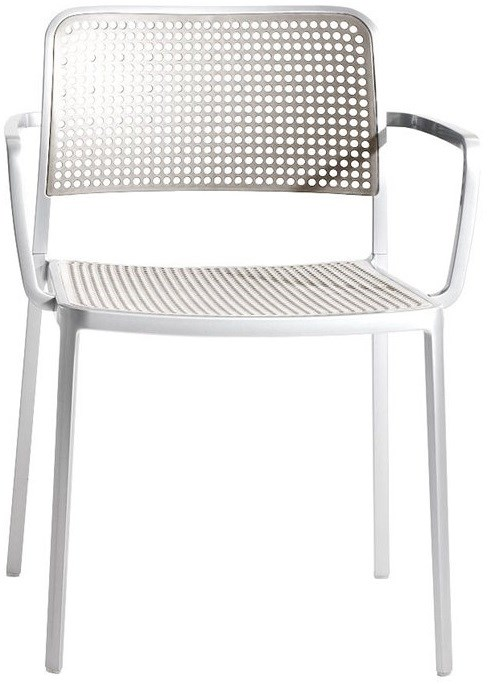 Painted Aluminum Frame Color Light Grey Seat U0026 Back Color With Arms Style.  Chevron_left. Chevron_right. Audrey