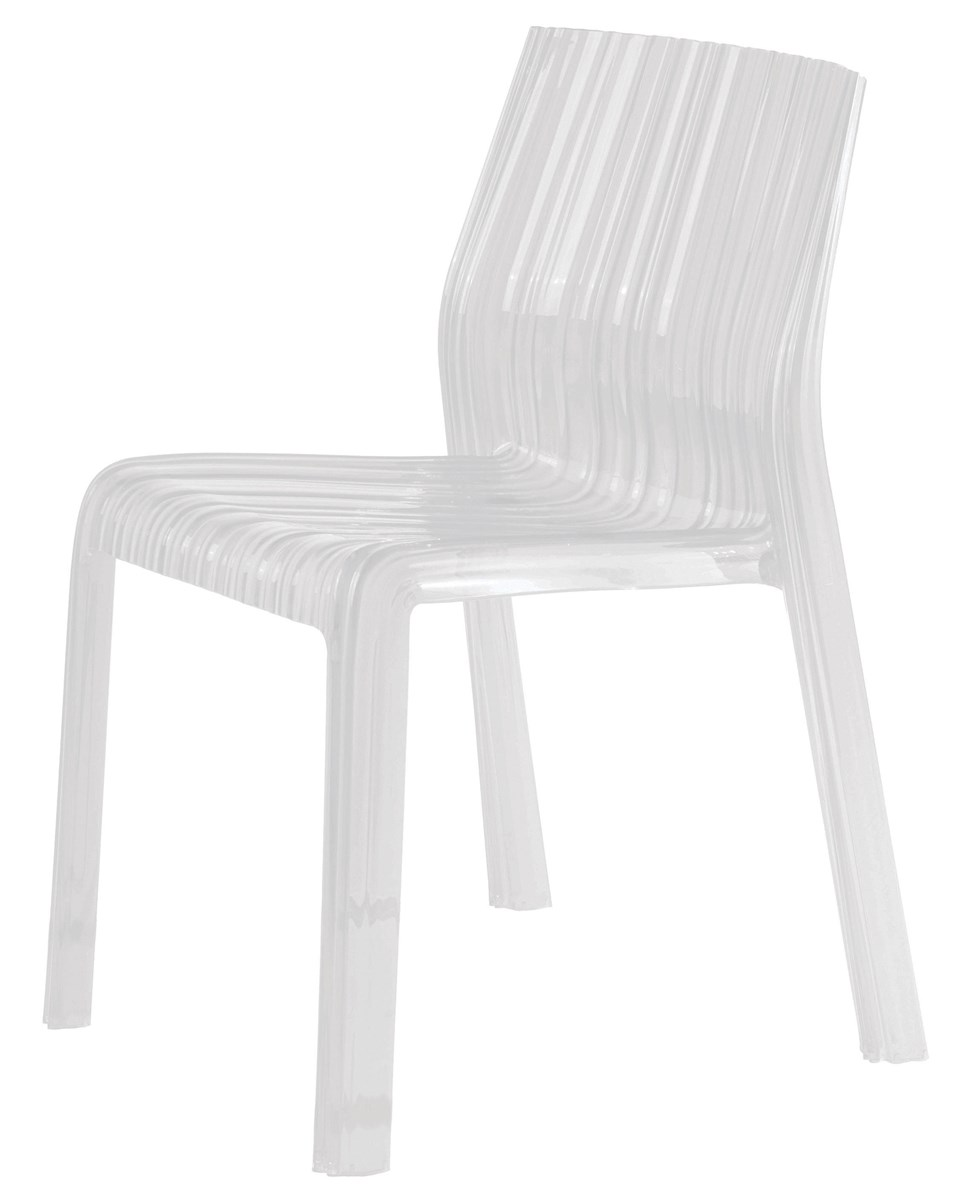 kartell frilly chair  neenas lighting - glossy opaque white color