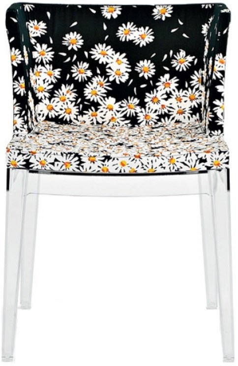 Transparent Base Moschino Margherite Daisies Seat Color