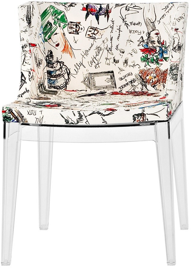 Transparent Base Moschino Sketches Seat Color
