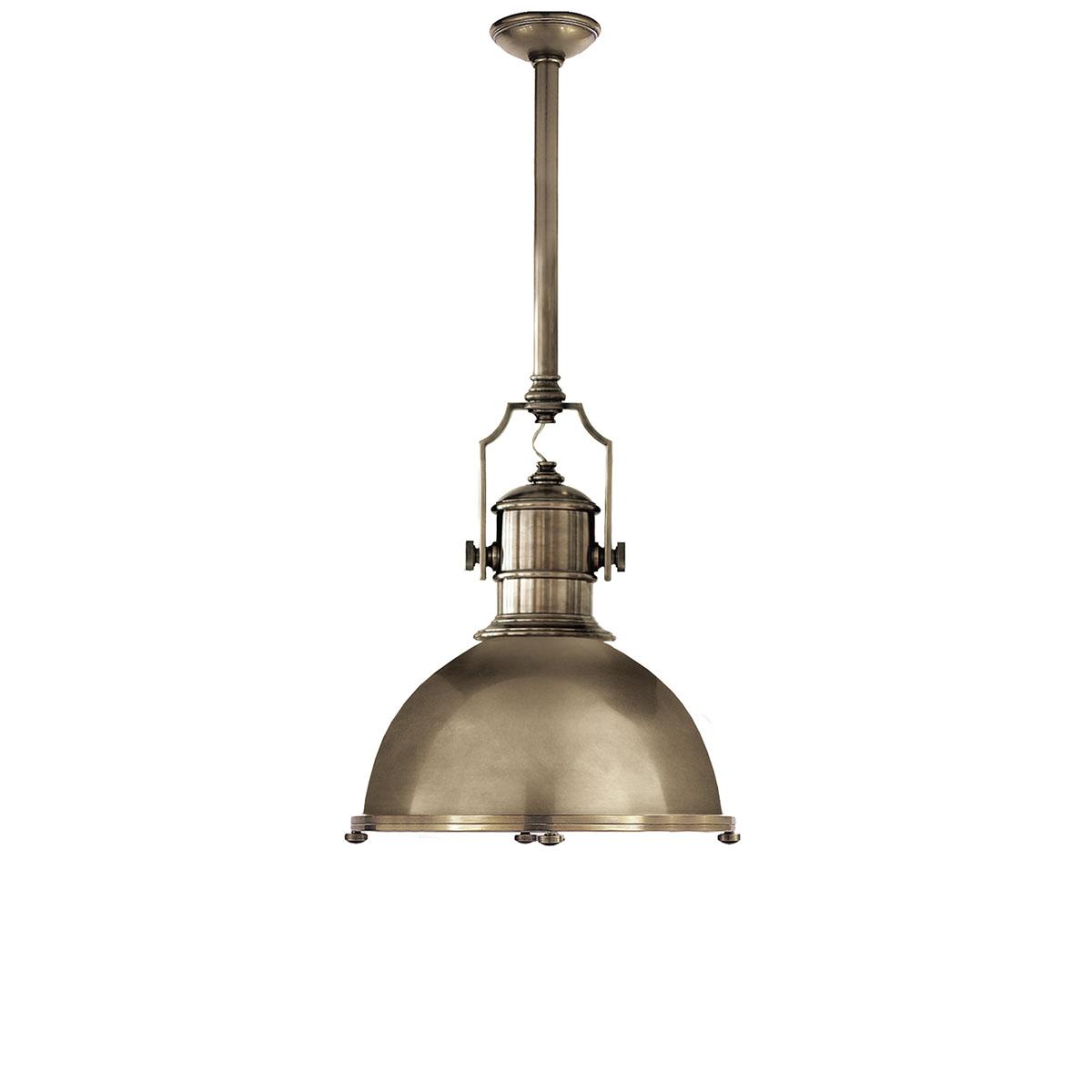 visual comfort country industrial pendant fixture neenas lighting