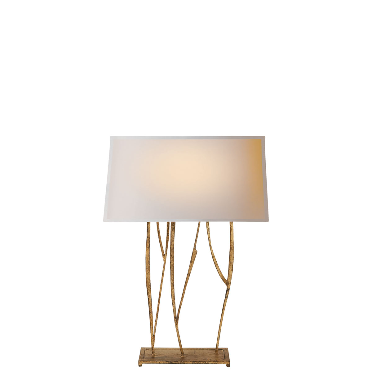 Visual comfort aspen table lamp table lamp neenas lighting gilded iron with wax finish natural paper shade geotapseo Gallery