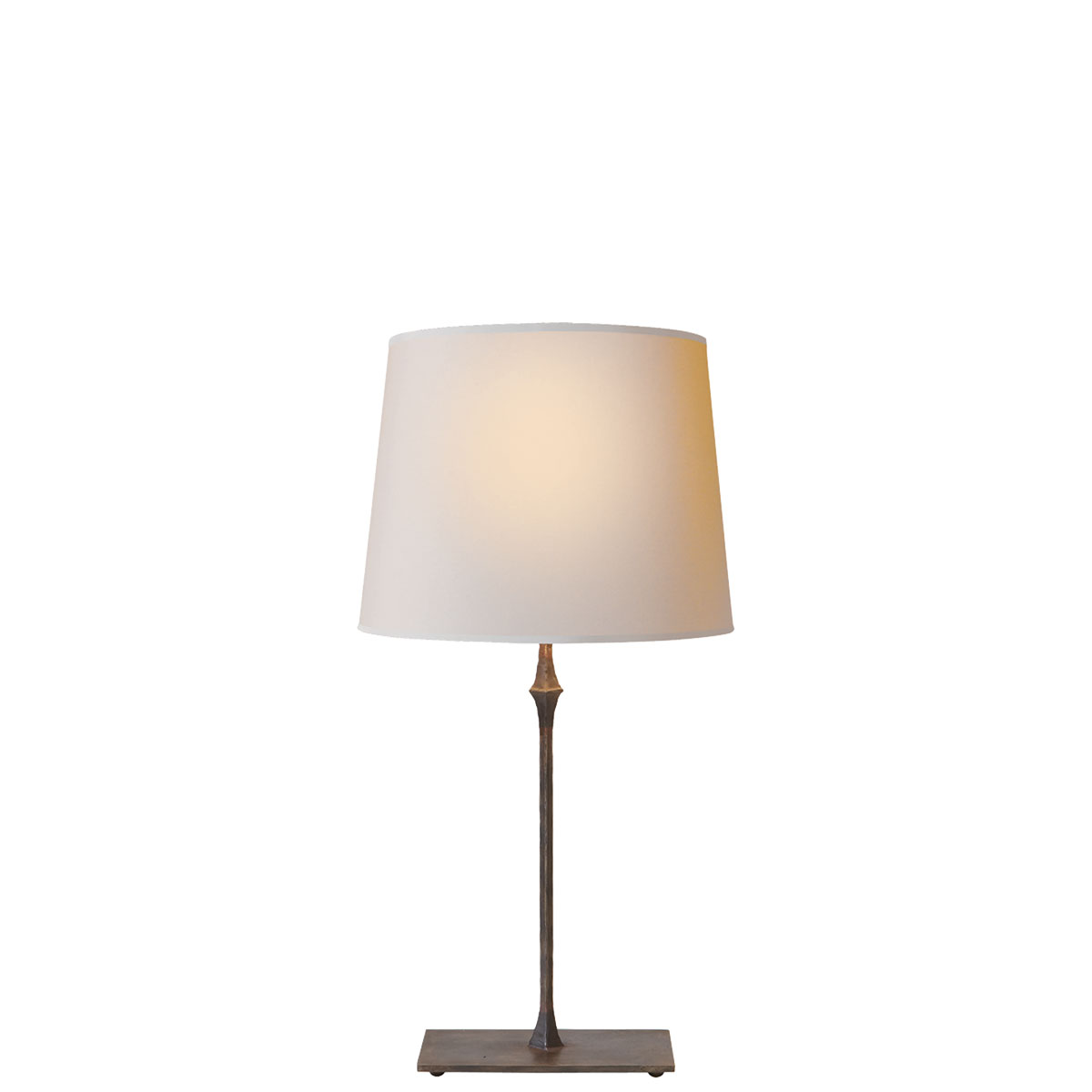 Visual comfort dauphine bedside lamp table lamp neenas lighting aged iron with wax finish natural paper shade chevronleft dauphine bedside lamp geotapseo Gallery