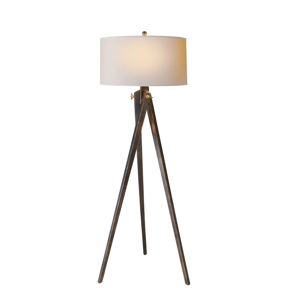 Visual comfort tripod floor lamp floor lamp neenas lighting tudor brown stain finish natural paper shade jameslax Image collections