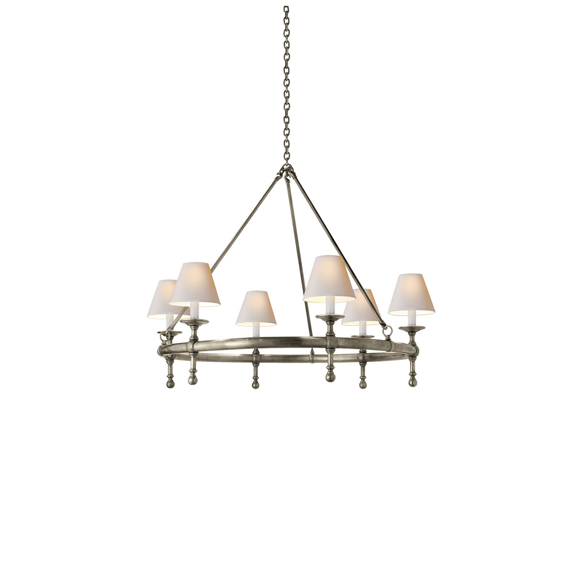 visual comfort classic ring chandeliers chandeliers. Black Bedroom Furniture Sets. Home Design Ideas