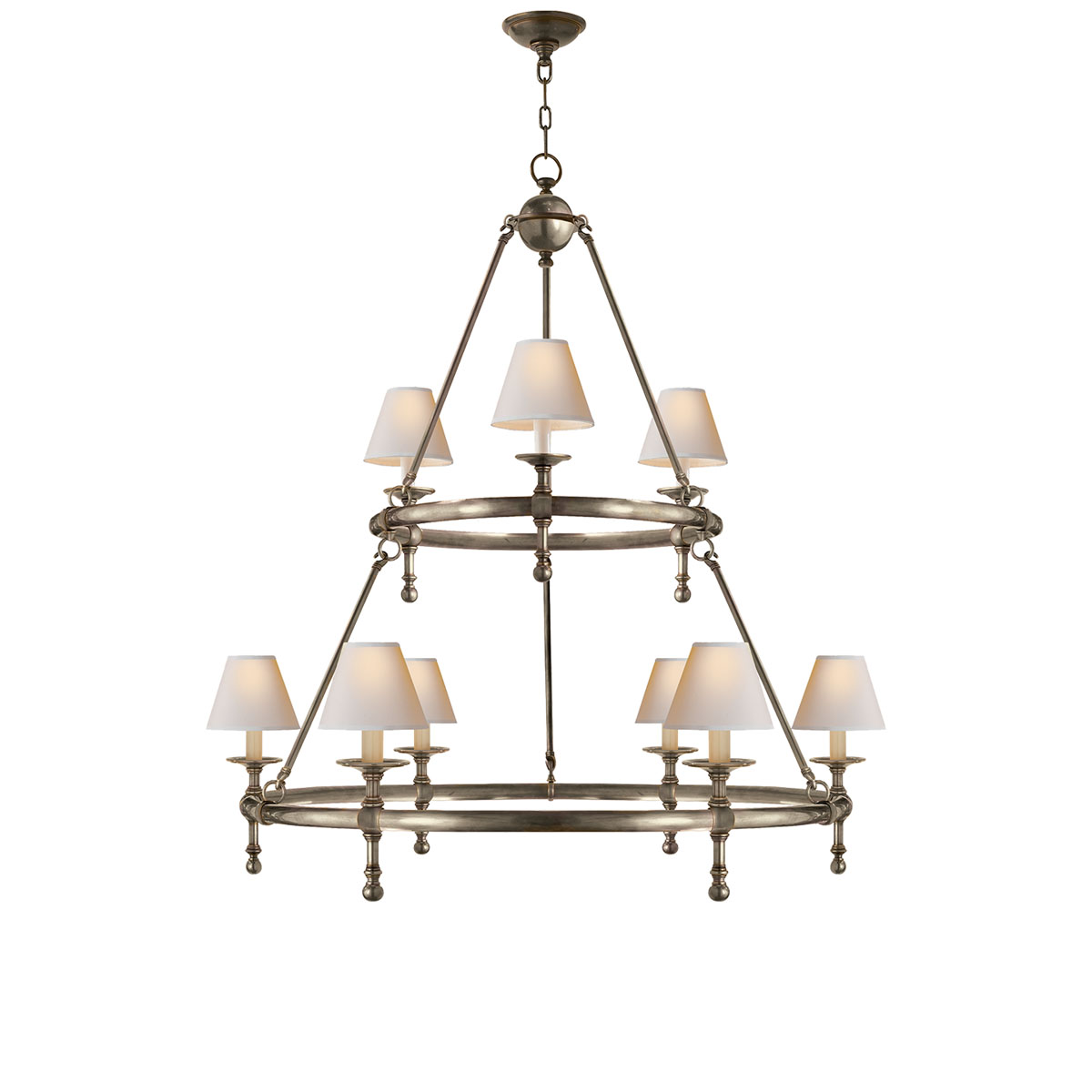 Visual Comfort Classic Two Tier Ring Chandeliers Neenas