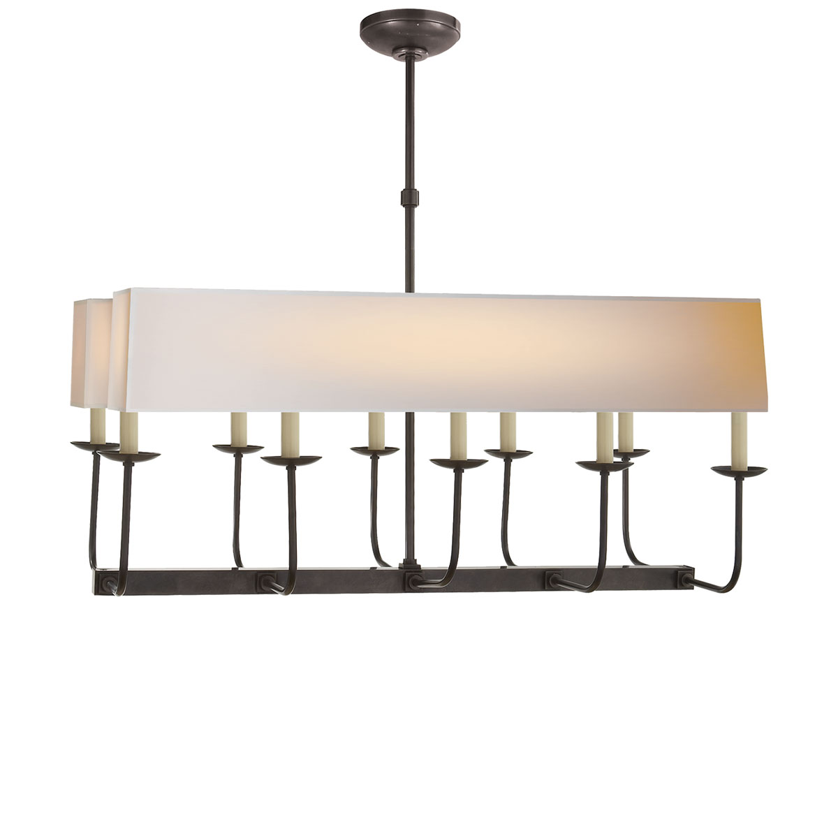 Bronze With Wax Finish 2 Linear Natural Paper Shades Shade Chevron Left Branched