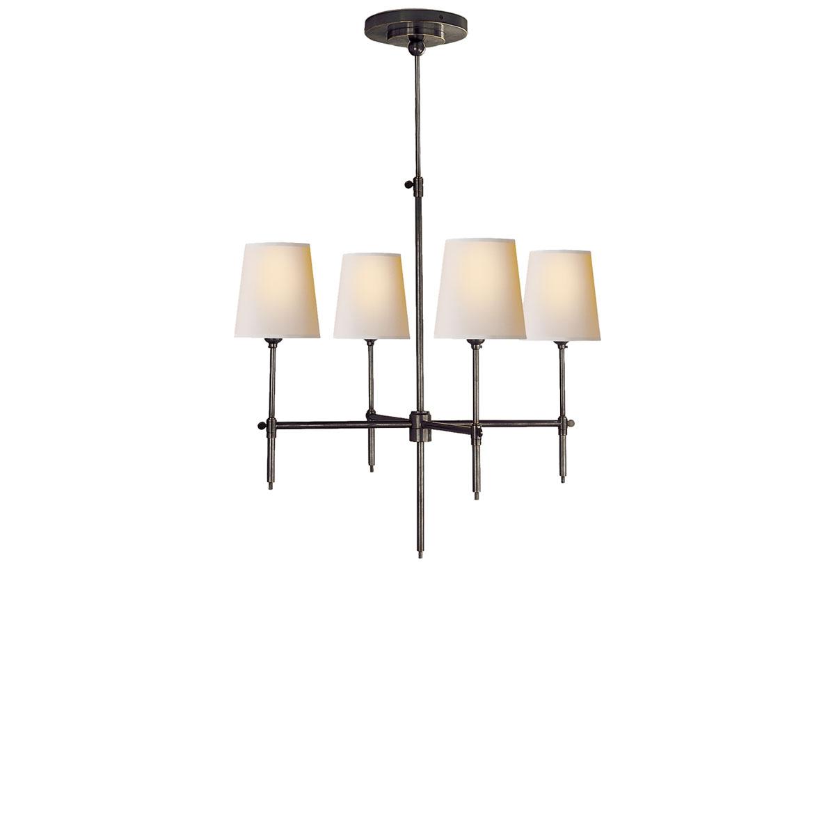 Visual comfort small bryant chandelier chandelier neenas lighting bronze with wax finish natural paper shade arubaitofo Gallery