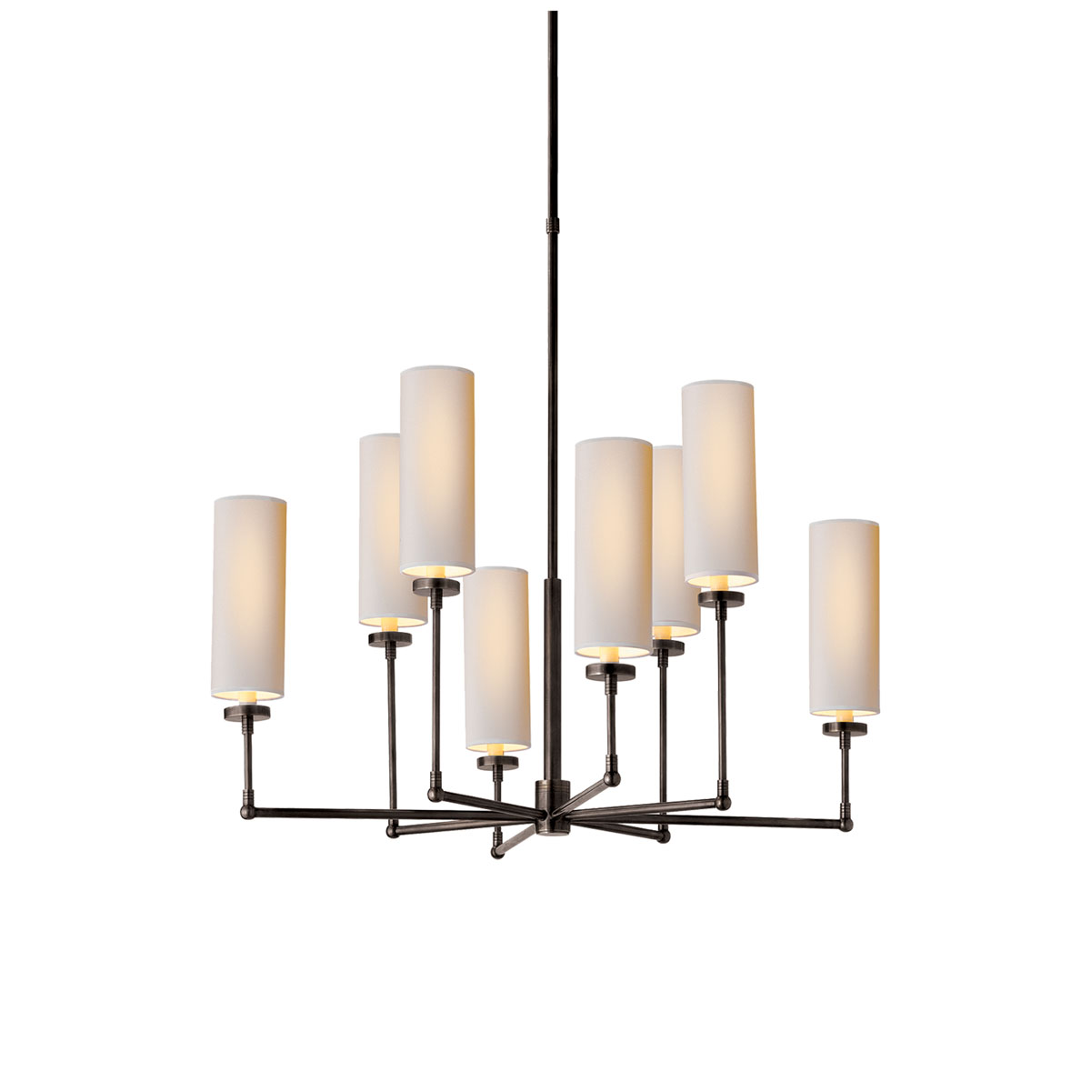 Visual comfort large ziyi chandelier chandelier neenas lighting bronze with wax finish natural paper shade chevronleft large ziyi chandelier arubaitofo Gallery