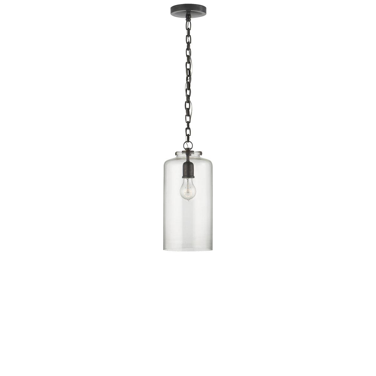 Visual comfort katie cylinder pendant pendant fixture neenas lighting bronze finish clear glass shade chevronleft chevronright katie cylinder pendant aloadofball Choice Image