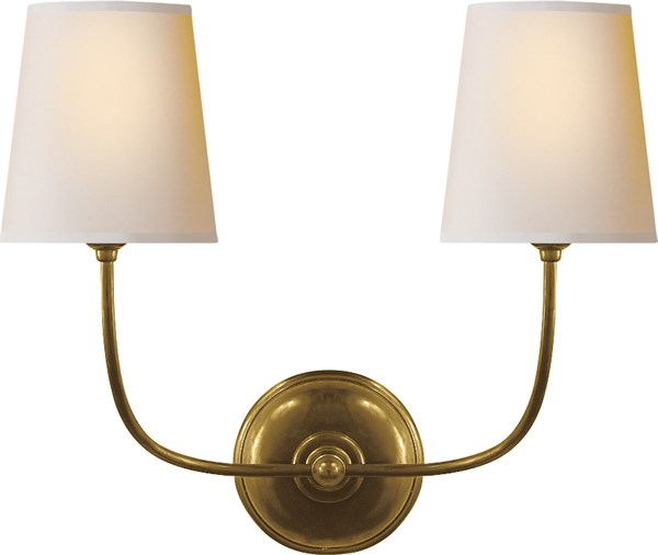 Hand-Rubbed Antique Brass Finish, Natural Paper Shade