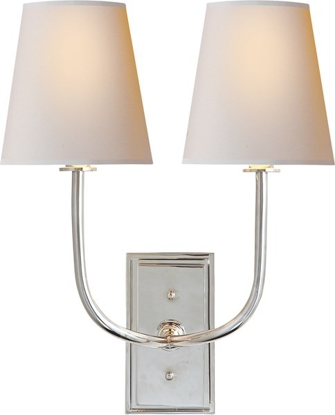 Wall Sconces Double : Visual Comfort Hulton Double Sconce, Wall Mount Neenas Lighting